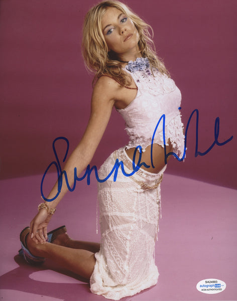 Sienna Miller Sexy Signed Autograph 8x10 ACOA Authentic COA #3 - Outlaw Hobbies Authentic Autographs