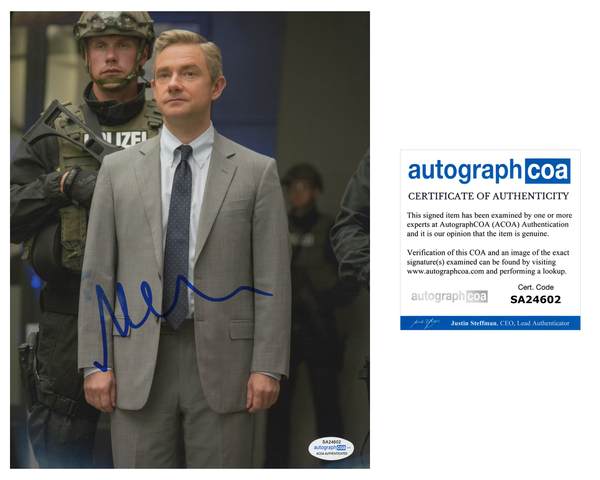 Martin Freeman Avengers  Signed Autograph 8x10 Photo ACOA #14 - Outlaw Hobbies Authentic Autographs