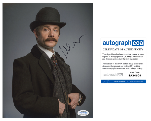 Martin Freeman Sherlock Signed Autograph 8x10 Photo ACOA #10 - Outlaw Hobbies Authentic Autographs