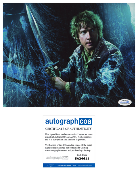 Martin Freeman The Hobbit Signed Autograph 8x10 Photo ACOA #3 - Outlaw Hobbies Authentic Autographs