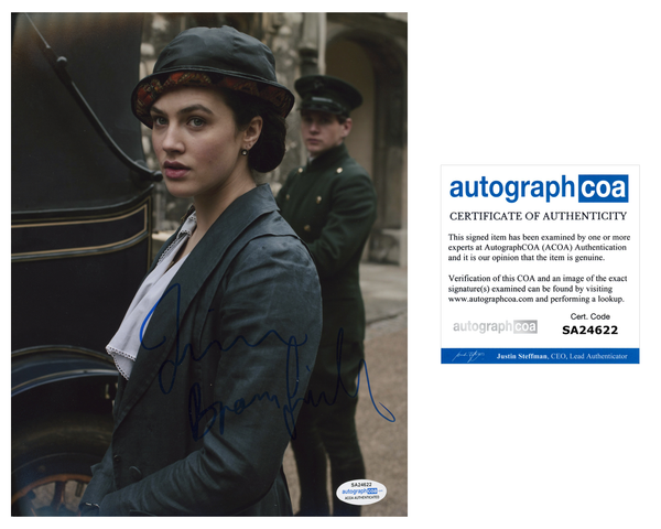 Jessica Brown Findlay Sexy Signed Autograph 8x10 Photo ACOA  #10 - Outlaw Hobbies Authentic Autographs