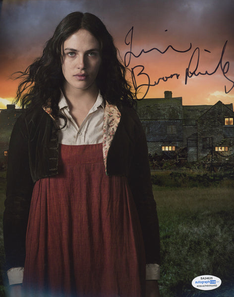 Jessica Brown Findlay Sexy Signed Autograph 8x10 Photo ACOA  #7 - Outlaw Hobbies Authentic Autographs