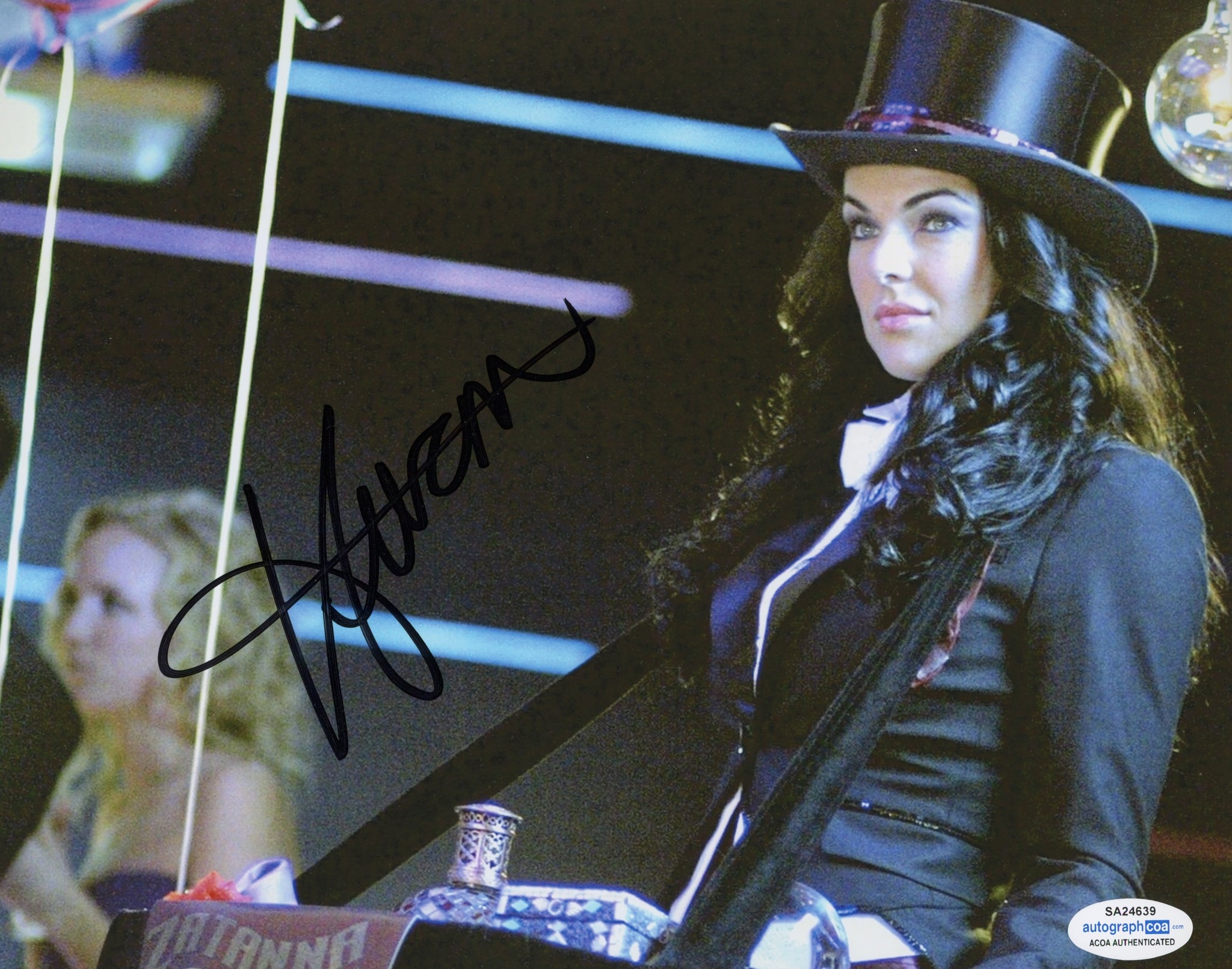 Serinda Swan Sexy Signed Autograph 8x10 Photo ACOA #3 Smallville - Outlaw Hobbies Authentic Autographs