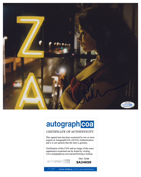Gemma Arterton  Signed Autograph 8x10 Photo Sexy ACOA #16 - Outlaw Hobbies Authentic Autographs