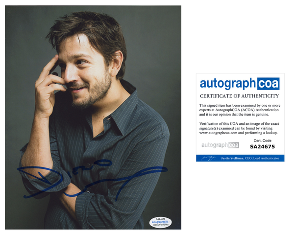 Diego Luna Sexy Signed autograph 8x10 Photo ACOA - Outlaw Hobbies Authentic Autographs