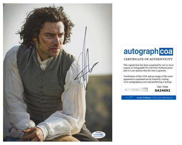 Aidan Turner Poldark Signed Autograph 8x10 Photo ACOA #2 - Outlaw Hobbies Authentic Autographs