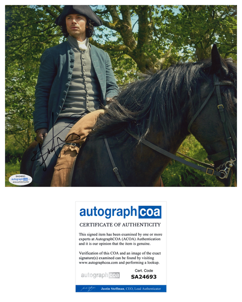 Aidan Turner Poldark Signed Autograph 8x10 Photo ACOA - Outlaw Hobbies Authentic Autographs