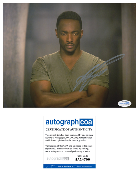 Anthony Mackie Falcon Avengers Marvel Signed Autograph 8x10 Photo ACOA - Outlaw Hobbies Authentic Autographs