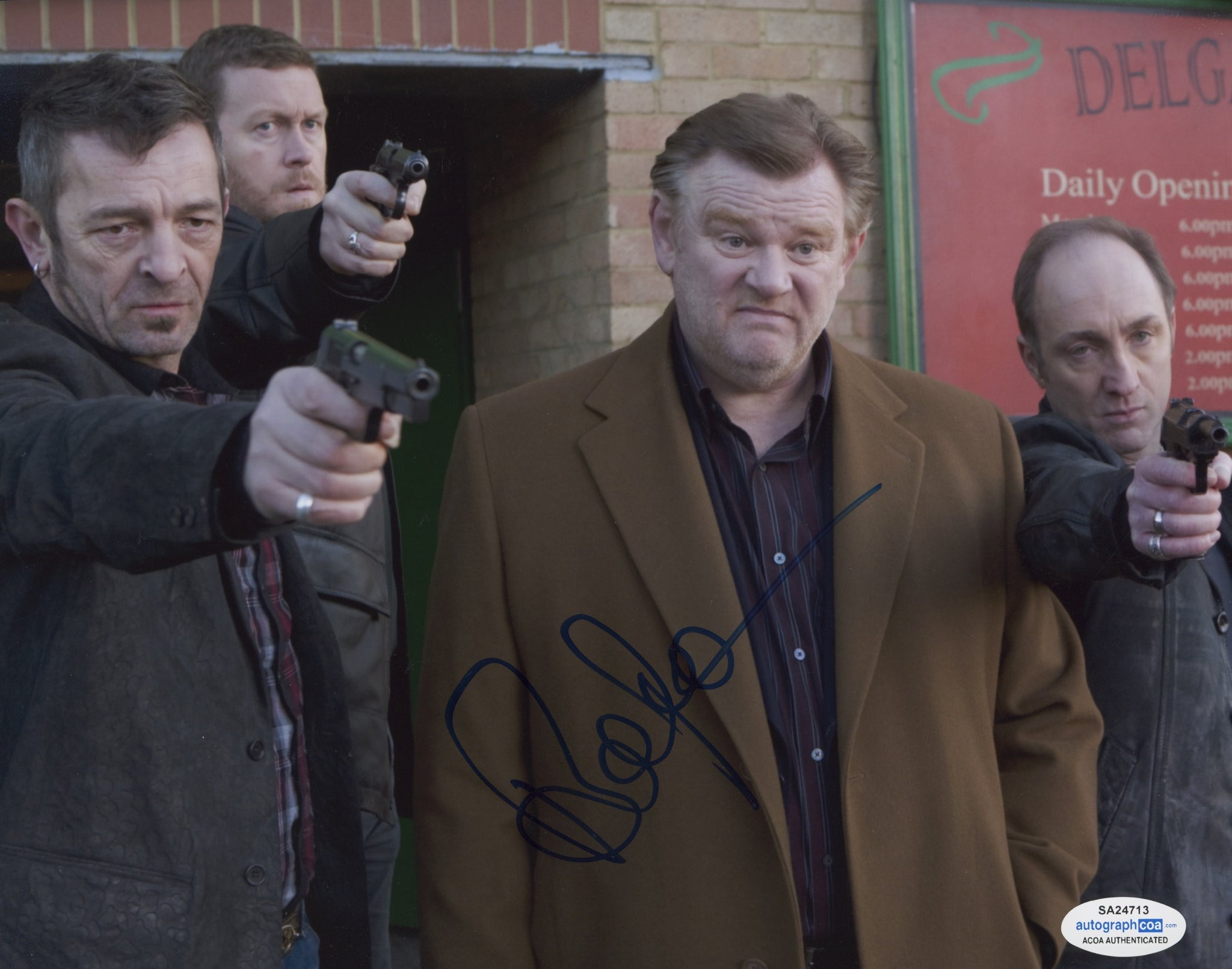 Brendan Gleeson In Bruges Signed Autograph ACOA Photo #6 - Outlaw Hobbies Authentic Autographs