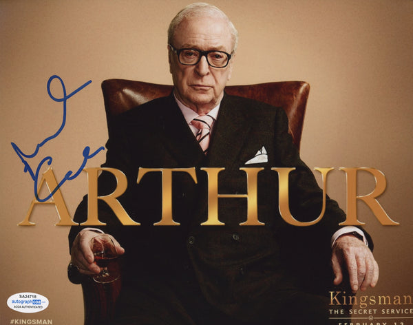 Michael Caine Kingsman Signed Autograph 8x10 Photo ACOA #4 - Outlaw Hobbies Authentic Autographs