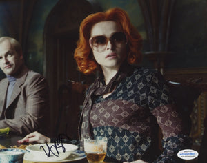 Helena Bonham Carter Dark Shadows Signed Autograph 8x10 Photo ACOA - Outlaw Hobbies Authentic Autographs