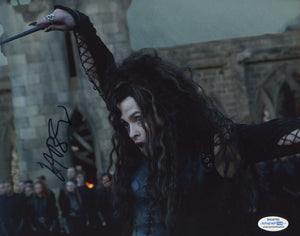 Helena Bonham Carter Harry Potter Signed Autograph 8x10 Photo ACOA - Outlaw Hobbies Authentic Autographs