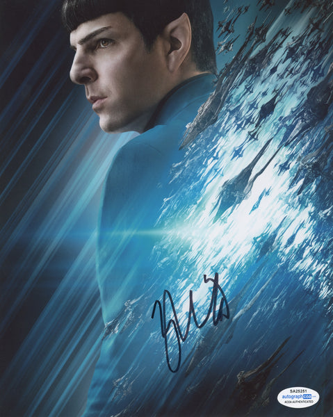 Zachary Quinto Star Trek Signed Autograph 8x10 Photo ACOA #3