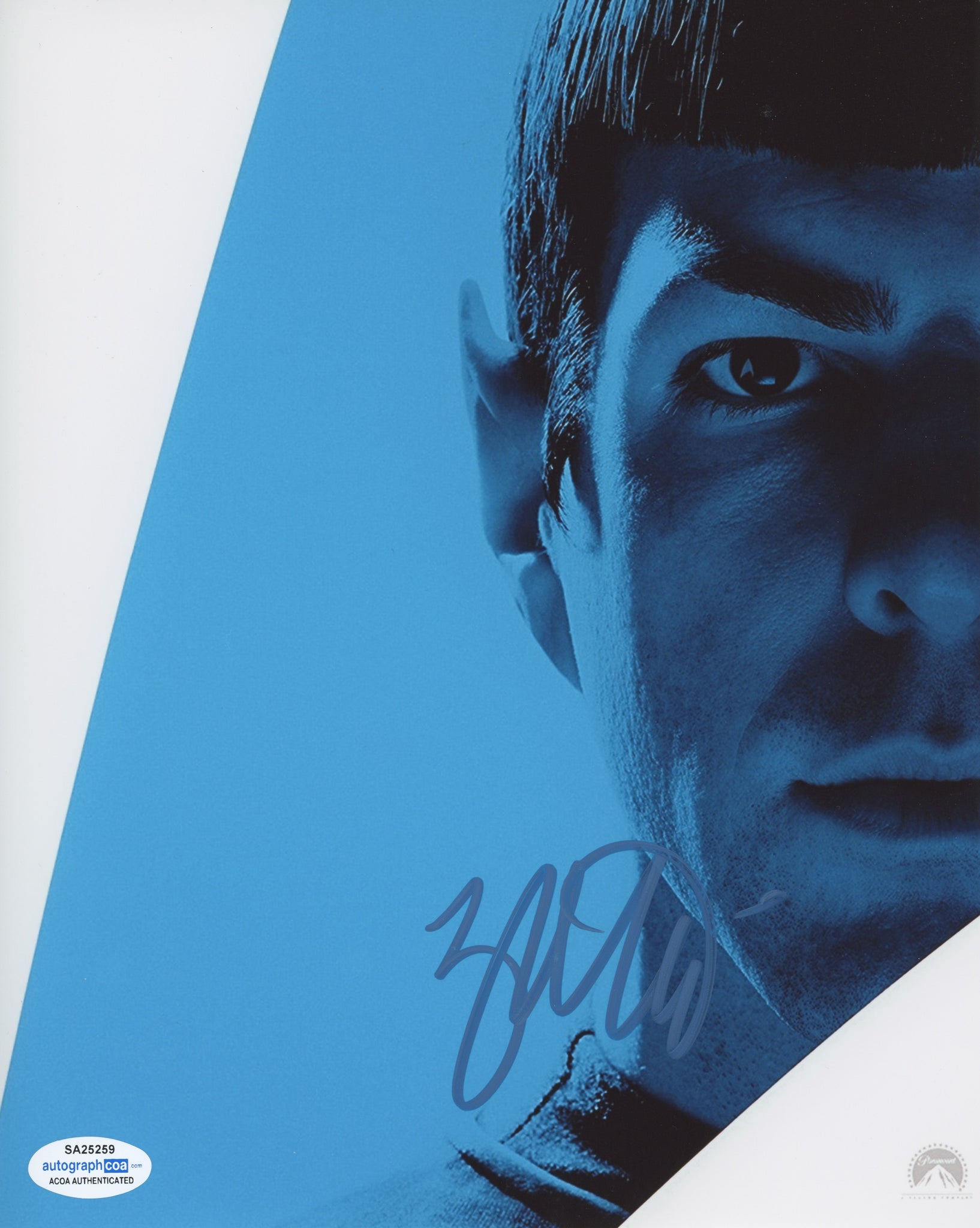 Zachary Quinto Star Trek Signed Autograph 8x10 Photo ACOA #11 - Outlaw Hobbies Authentic Autographs