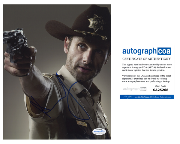 Andrew Lincoln The Walking Dead Signed Autograph 8x10 Photo ACOA