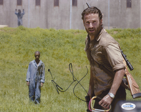 Andrew Lincoln The Walking Dead Signed Autograph 8x10 Photo ACOA #2