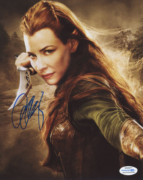 Evangeline Lilly The Hobbit Signed Autograph 8x10 Photo #6 - Outlaw Hobbies Authentic Autographs