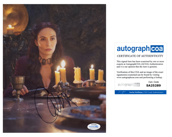 Carice Van Houten Game of Thrones Signed Autograph 8x10 Photo ACOA - Outlaw Hobbies Authentic Autographs
