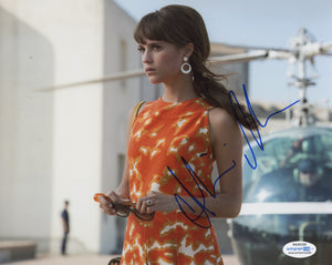 Alicia Vikander Man from Uncle Signed Autograph 8x10 Photo ACOA
