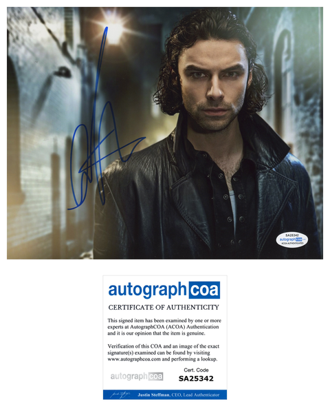 Aidan Turner Being Human Signed Autograph 8x10 Photo ACOA #8 - Outlaw Hobbies Authentic Autographs