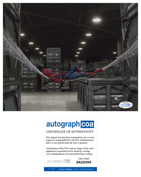 Tom Holland Spiderman Autograph Signed 8x10 Photo ACOA #2 - Outlaw Hobbies Authentic Autographs
