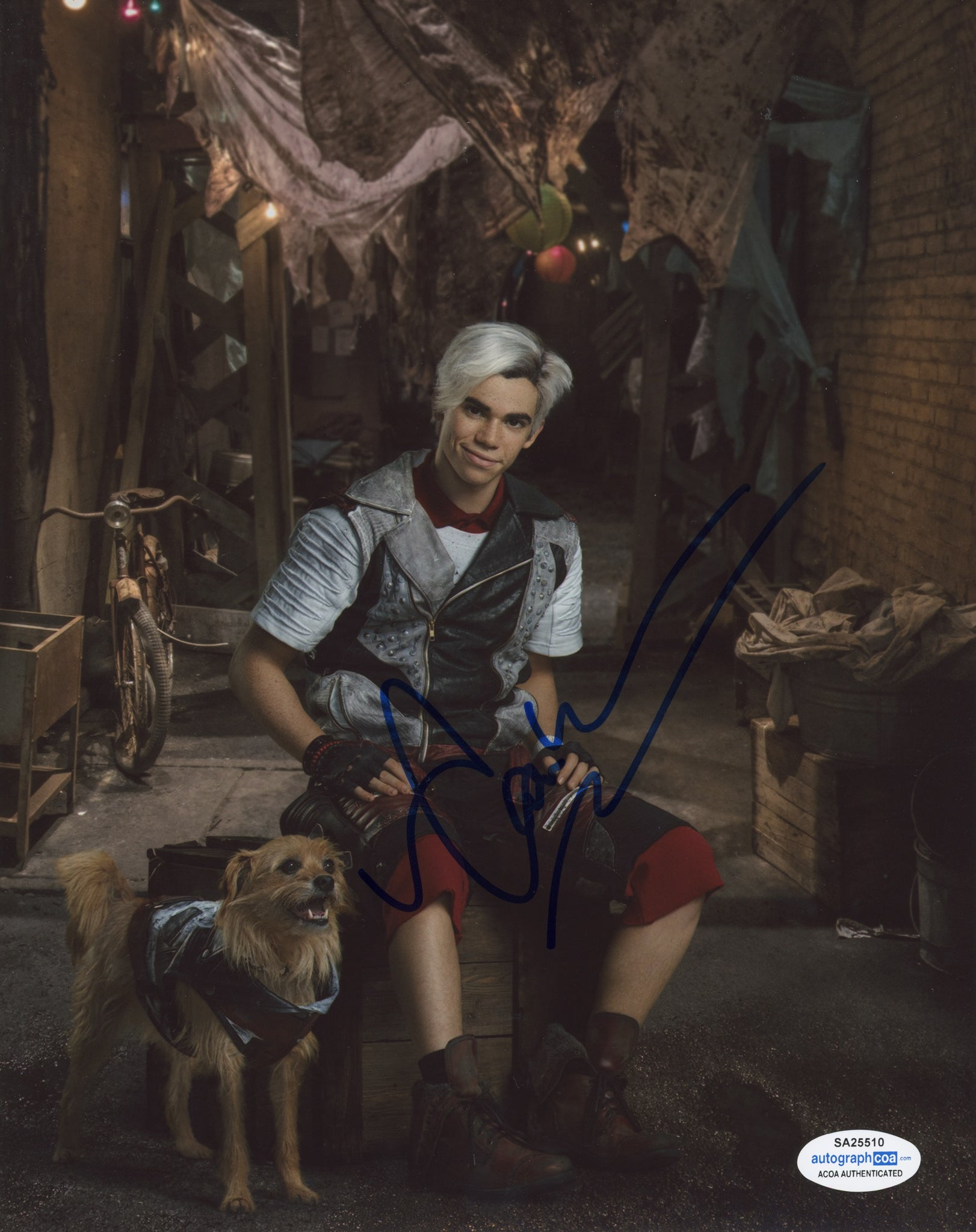 Cameron Boyce Descendants Signed Autograph 8x10 Photo ACOA