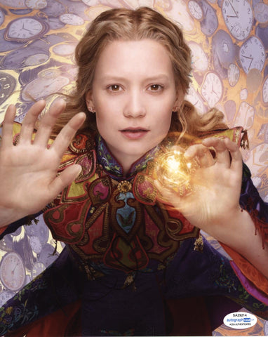 Mia Wasikowska Alice in Wonderland Signed Autograph 8x10 Photo ACOA #3 - Outlaw Hobbies Authentic Autographs