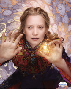 Mia Wasikowska Alice in Wonderland Signed Autograph 8x10 Photo ACOA #7