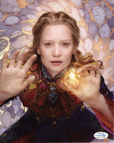 Mia Wasikowska Alice in Wonderland Signed Autograph 8x10 Photo ACOA #7 - Outlaw Hobbies Authentic Autographs