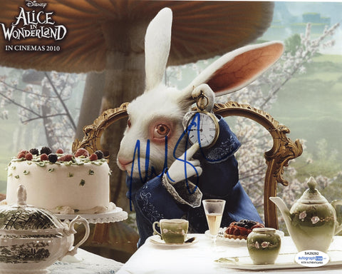 Michael Sheen Alice in Wonderland Signed Autograph 8x10 Photo ACOA - Outlaw Hobbies Authentic Autographs