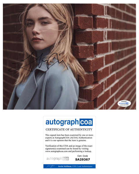 Florence Pugh Black Widow Sexy Signed Autograph 8x10 Photo ACOA