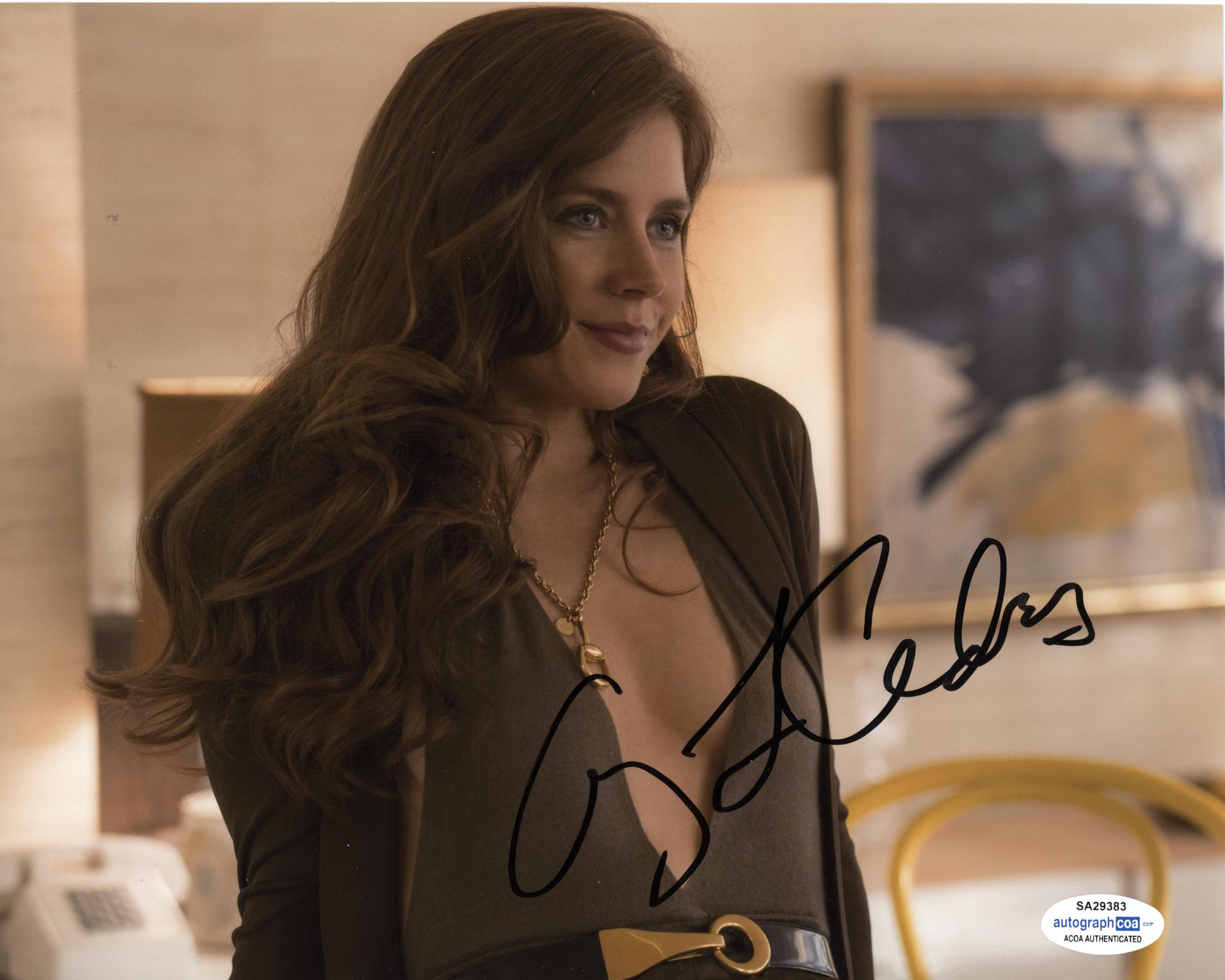 Amy Adams American Hustle Signed Autograph 8x10 Photo ACOA #3 - Outlaw Hobbies Authentic Autographs