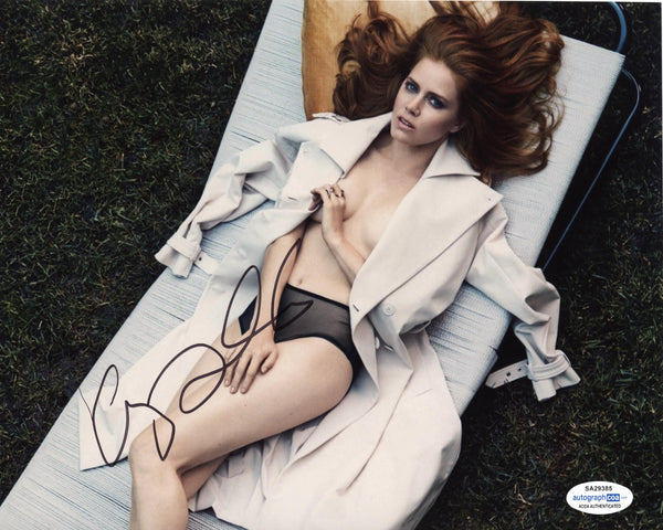 Amy Adams Sexy Signed Autograph 8x10 Photo ACOA #5