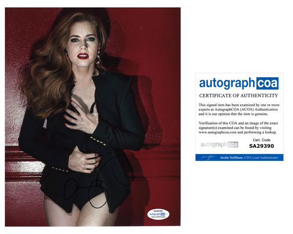 Amy Adams Sexy Signed Autograph 8x10 Photo ACOA #10 - Outlaw Hobbies Authentic Autographs