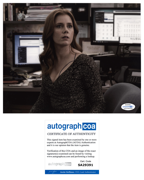 Amy Adams Batman Superman Signed Autograph 8x10 Photo ACOA #11