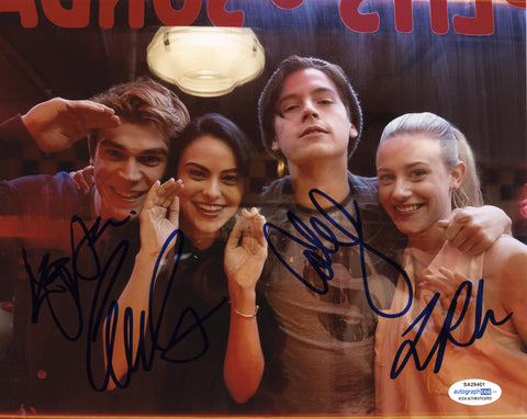 KJ Apa Lili Reinhart Cole Sprouse Camila Mendes Signed Riverdale Autograph 8x10 Photo Cast - Outlaw Hobbies Authentic Autographs