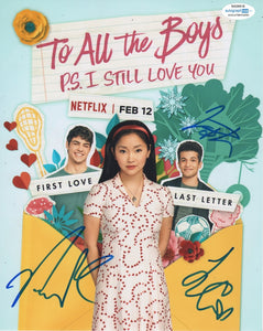 Lana Condor Noah Centineo Jordan Fisher To All The Boys I've Loved Before Signed Autograph 8x10 Photo ACOA PS I Still Love You