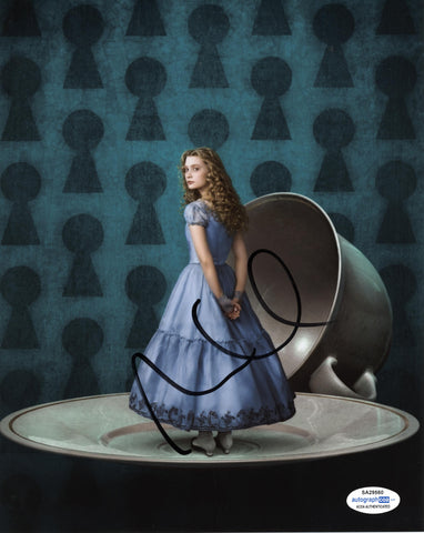 Mia Wasikowska Alice in Wonderland Signed Autograph 8x10 Photo ACOA #9 - Outlaw Hobbies Authentic Autographs