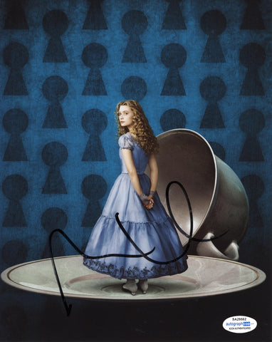 Mia Wasikowska Alice in Wonderland Signed Autograph 8x10 Photo ACOA #10 - Outlaw Hobbies Authentic Autographs