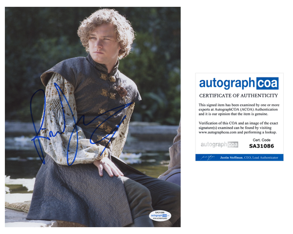 Finn Jones Game of Thrones Signed Autograph 8x10 Photo ACOA - Outlaw Hobbies Authentic Autographs