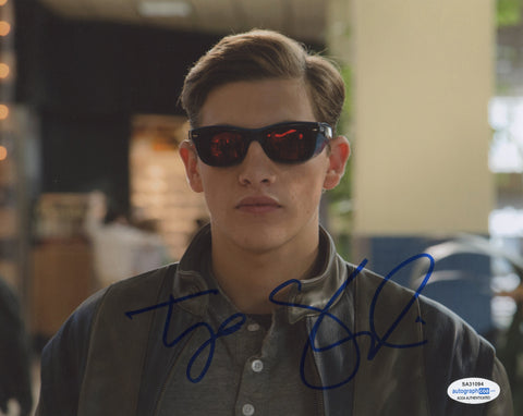 Tye Sheridan Xmen Cyclops Signed Autograph 8x10 Photo ACOA - Outlaw Hobbies Authentic Autographs