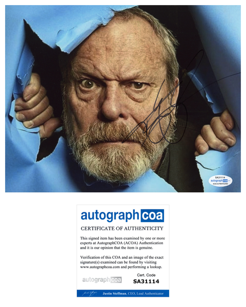 Terry Gilliam Monty Python Signed Autograph 8x10 Photo ACOA - Outlaw Hobbies Authentic Autographs