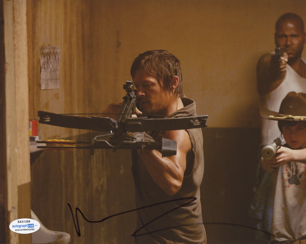 Norman Reedus Walking Dead Signed Autograph 8x10 Photo ACOA #4