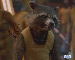 Bradley Cooper Guardians Rocket Signed Autograph 8x10 Photo ACOA