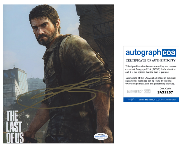 Troy Baker The Last of Us SIgned Autograph 8x10 Photo ACOA