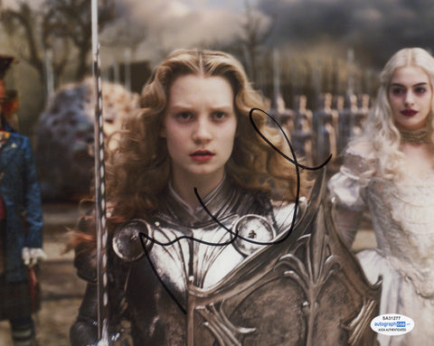 Mia Wasikowska Alice in Wonderland Signed Autograph 8x10 Photo ACOA #14 - Outlaw Hobbies Authentic Autographs