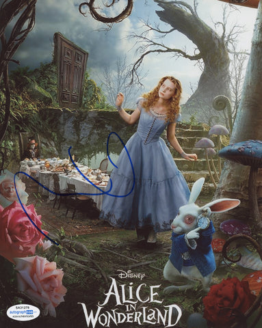 Mia Wasikowska Alice in Wonderland Signed Autograph 8x10 Photo ACOA #15 - Outlaw Hobbies Authentic Autographs