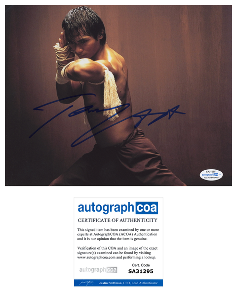 Tony Jaa Skin Trade Signed Autograph 8x10 Photo ACOA Authentic #15