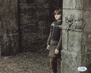 Isaac Hempstead-Wright Game of Thrones Signed Autograph 8x10 Photo ACOA