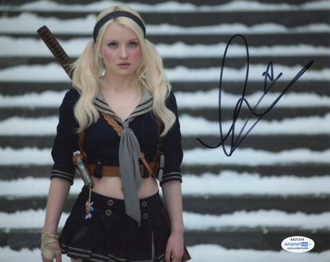 Emily Browning Sexy Signed Autograph 8x10 Photo ACOA #2